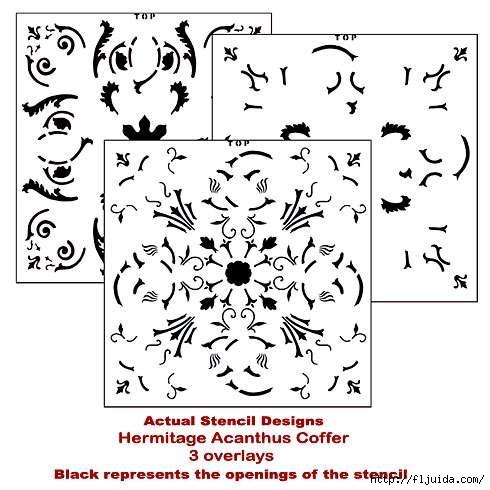 Coffer-acanthus-stencil (490x490, 128Kb)