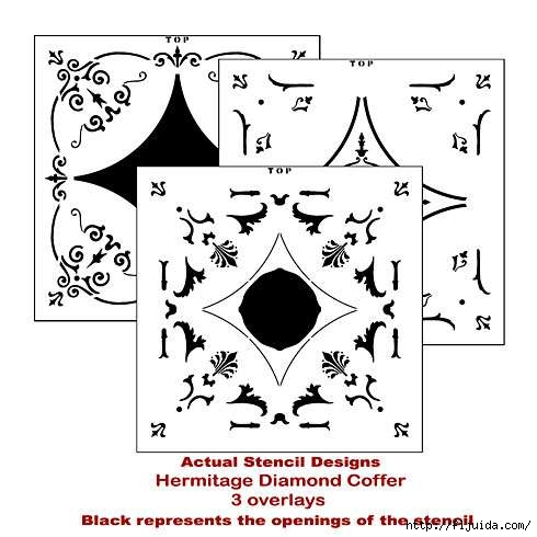 Coffer-stencil-diamond (490x490, 103Kb)