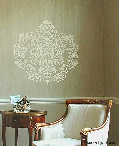 Damask-wall-stencil (401x490, 119Kb)