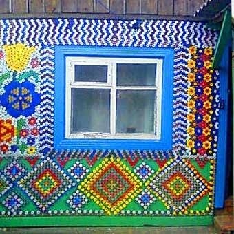 Как сделать мозаика из пластиковых крышек 70