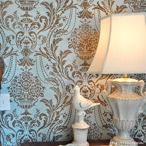 Damask-Anastasia-bedroom-stencil (490x490, 218Kb)
