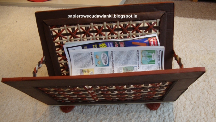 Плетение из газет. Газетница с интересным узором. Мастер-класс (3) (700x395, 222Kb)