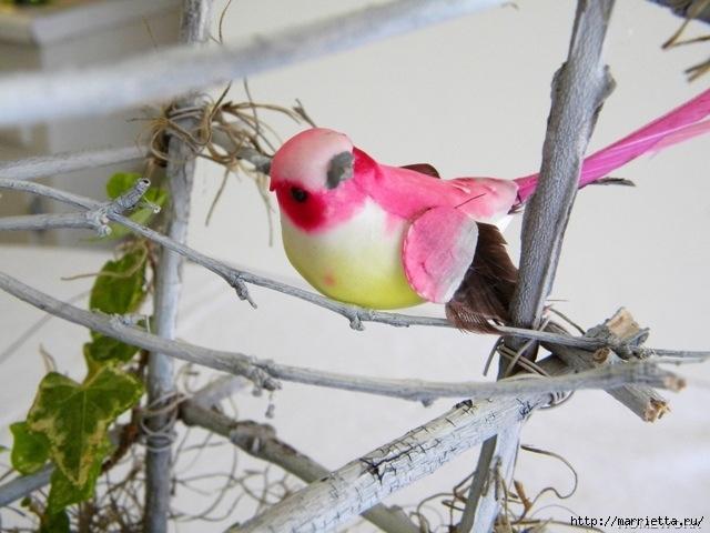 Топиарий из веток для птички и красивая композиция из тыквы (2) (640x480, 179Kb)