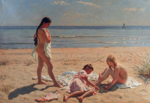 928775_Summerday_at_Skagen_beach_by_Lauritz_Tuxen_1906 (507x350, 28Kb)