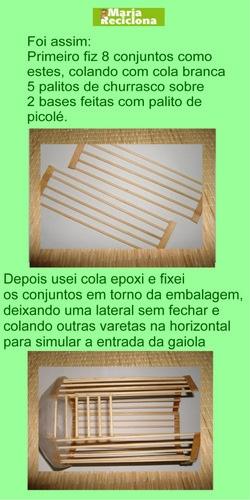 Декоративная птичья клетка из шашлычных палочек и крышек от конфетных коробок (3) (250x500, 98Kb)