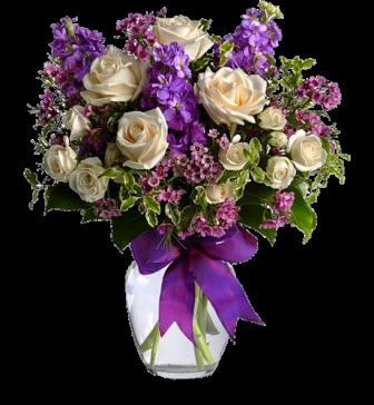 buket-клипарт из белыз роз и синих цветов (336x364, 201Kb)