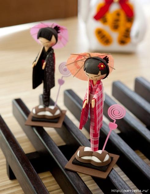 Японские куколки из фоамирана и шариковых ручек (1) (490x632, 166Kb)