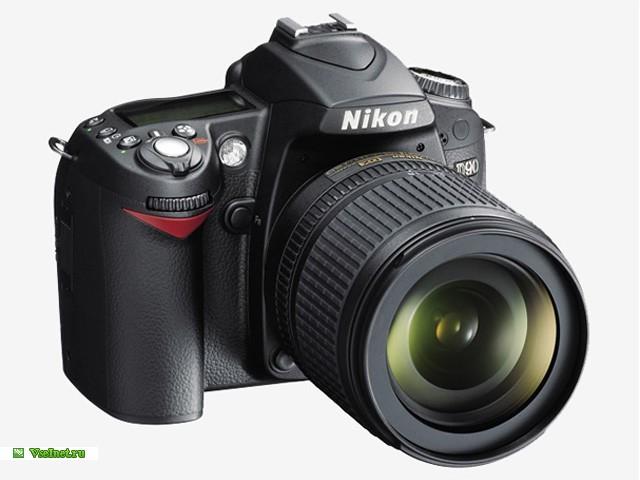 1Фотокамерa зеркальная Nikon D90, 12.3 Mpx, чёрная, Kit DX 18-55 VR (640x480, 56Kb)