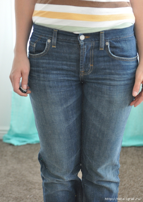 Широкий пояс из джинс мастер класс для начинающих #6