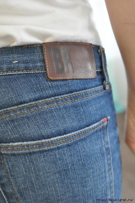 Широкий пояс из джинс мастер класс для начинающих #1