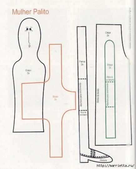 сшить куклу. журнал с выкройками (21) (435x540, 111Kb)