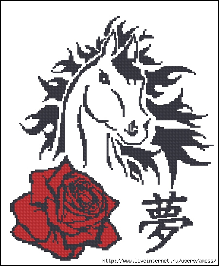 лошадка тату (450x546, 145Kb)
