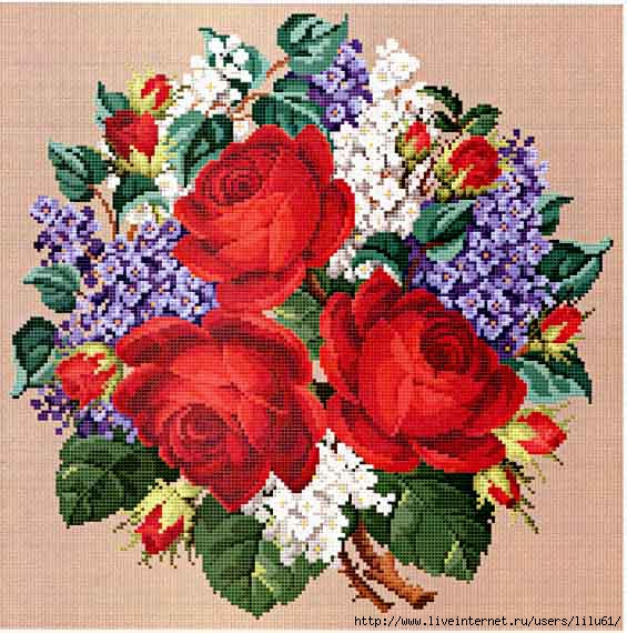 5282851__087_Roses_and_Lilacs_Bouquet (565x570, 228Kb)