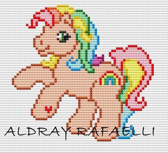 Схемы для вышивки детские лошадки