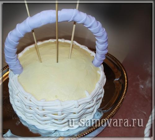 Как сделать для торта корзину