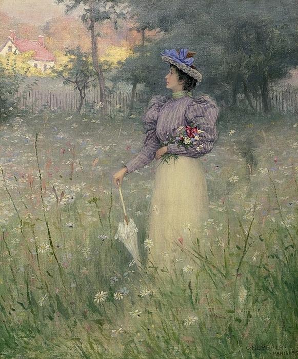 gathering-wildflowers-1885-charles-heberer-american-1868-1951_600x723 (581x700, 365Kb)