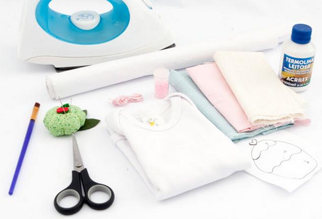 Простенькая аппликация кекса для украшения одежды новорожденного (1) (634x432, 347Kb)