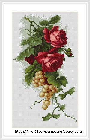 Вышивка крестом, схемы Розы