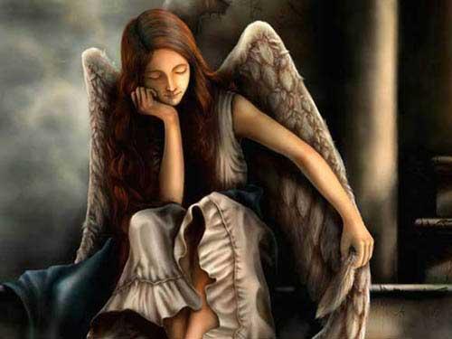 Ты видел,как Ангелы плачут От горя крылом заслонясь.  И слёзы тихонечко прячут, Порой через силу смеясь.