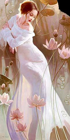 женщина и роз цветы (344x488, 246Kb)