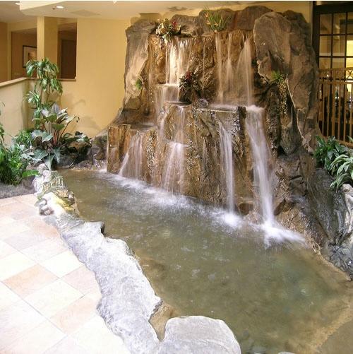 Декоративные водопады в доме фото