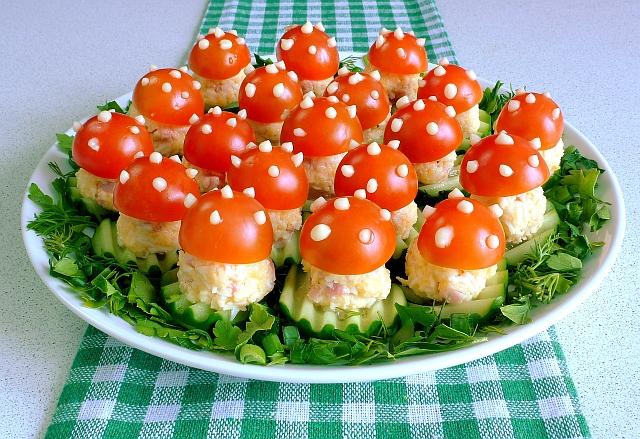 Легкие закуски на праздничный стол фото рецепты