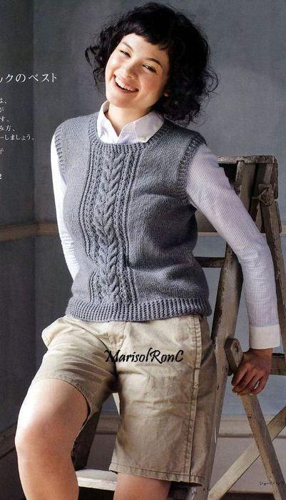 Вязание спицами для женщин самое интересное жилеты