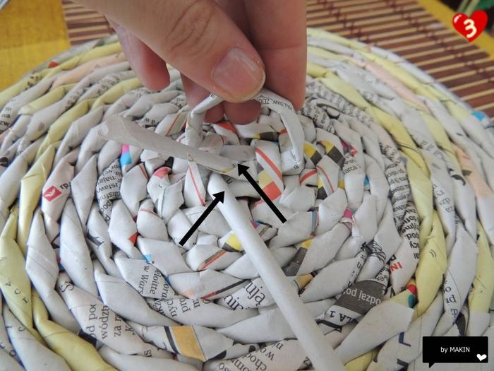 Плетение из газет. Стильные работы от Makin (47) (700x525, 277Kb)