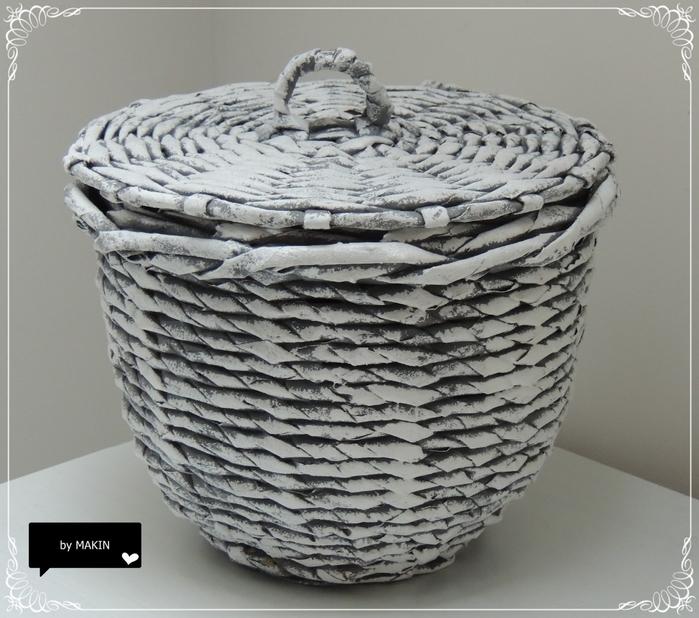Плетение из газет. Стильные работы от Makin (57) (700x618, 289Kb)