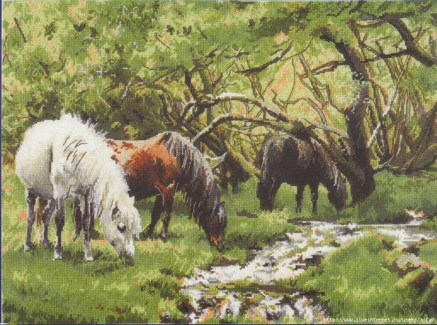 Вышивка крестом, схемы Horses