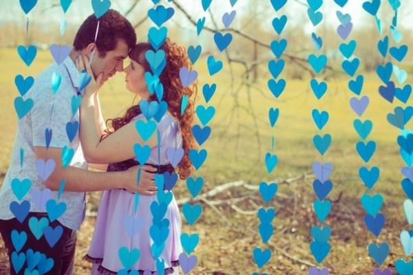 Гирлянда сердечки для свадьбы своими руками 609
