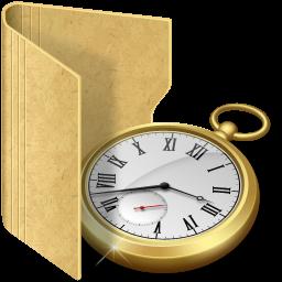 """Программа учета рабочего времени """"ОфисМЕТРИКА""""/1374024694_folder20clock1 (256x256, 86Kb)"""