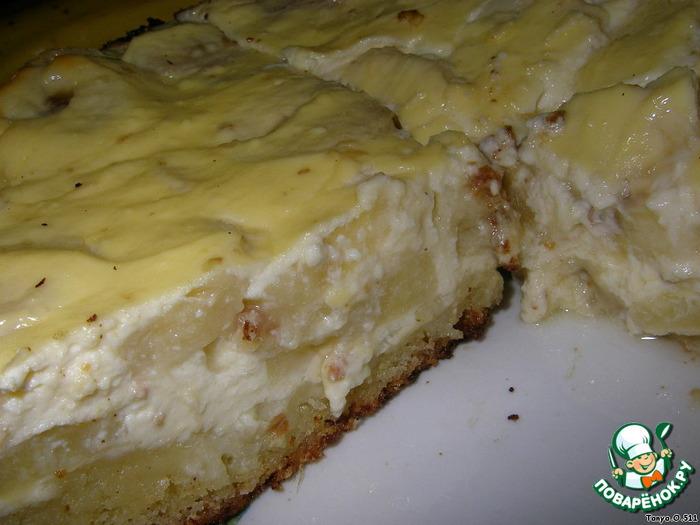 Творожный пирог с бананом пошаговый рецепт
