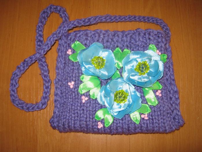 Вязание спицами сумочки для девочки 27