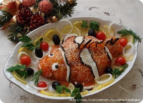 Ингредиенты рецепта Салат Немо Салаты на новый год 2012. Маслины