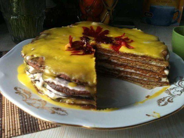 Торт с бананом без яиц
