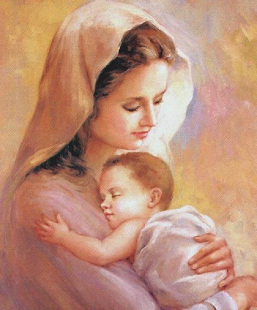 Схема вышивки «Любовь матери»