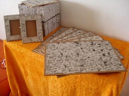 Салфетки, коврики и рамочки для фотографий из газетных трубочек. Видео мастер-класс (12) (450x337, 123Kb)