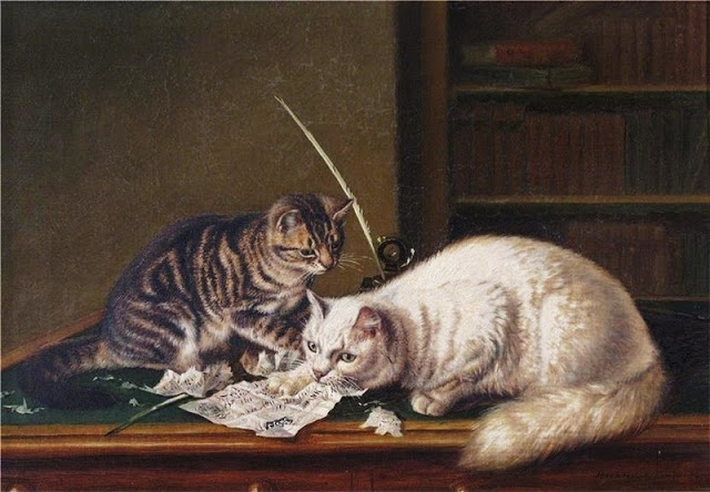 ` Horatio Henry Couldery (English artist, 1832–1893) A Fiver in the Kitty (640x444, 184Kb)