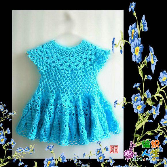 Мастер класс детские платья на спицах вязание