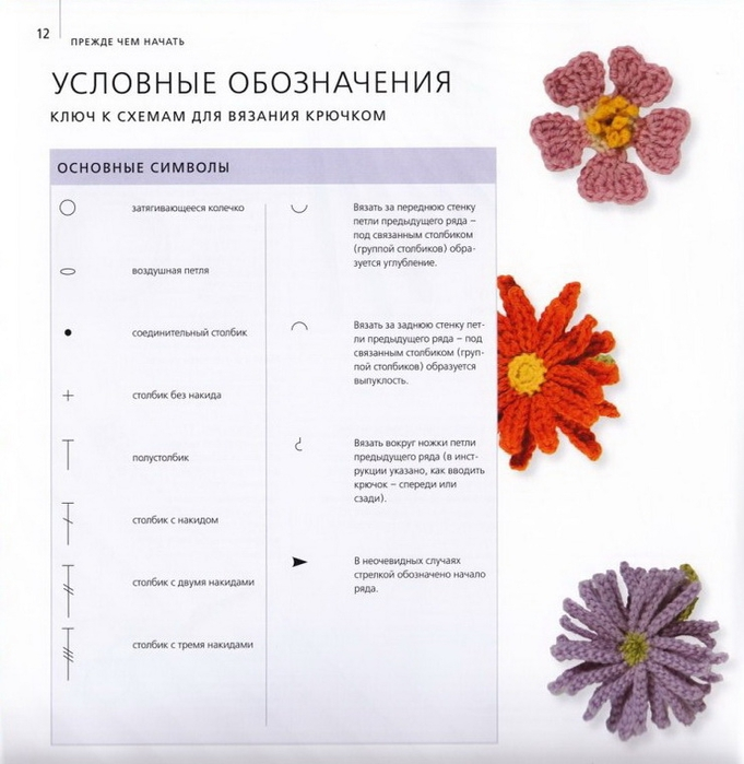 100 вязаных цветов спицами и крючком (9) (681x700, 220Kb)