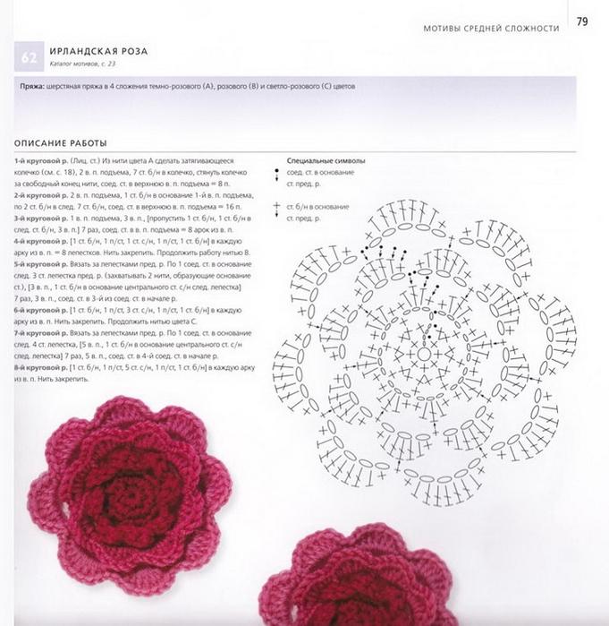 100 вязаных цветов спицами и крючком (76) (681x700, 262Kb)