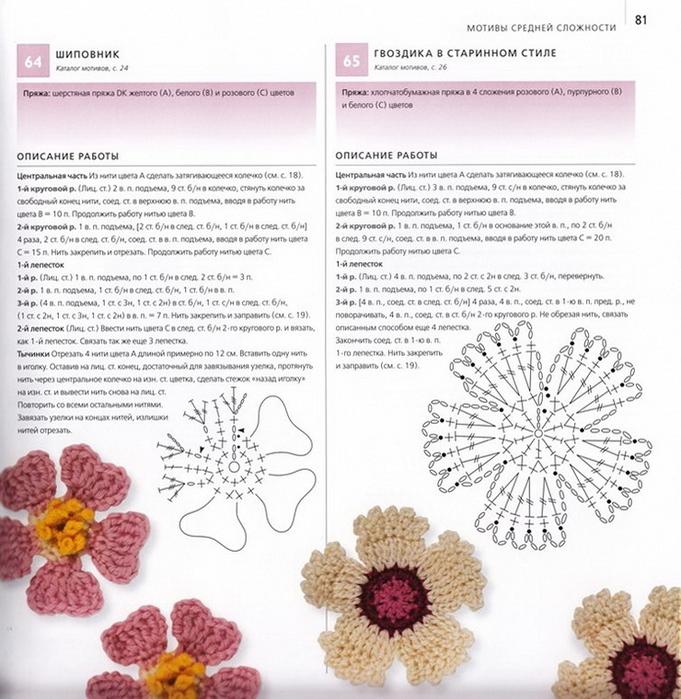 100 вязаных цветов спицами и крючком (78) (681x700, 317Kb)