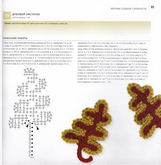 100 вязаных цветов спицами и крючком (86) (681x700, 267Kb)