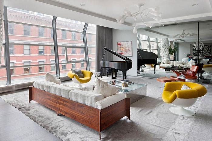 стильный дизайн интерьера большой квартиры (700x466, 256Kb)
