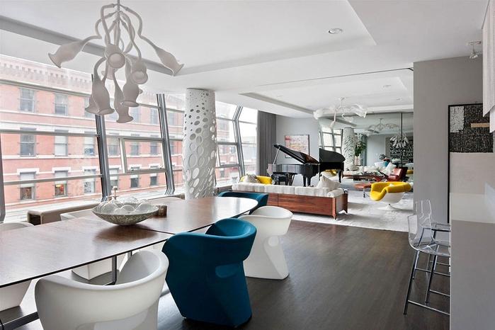 стильный дизайн интерьера большой квартиры 2 (700x466, 219Kb)