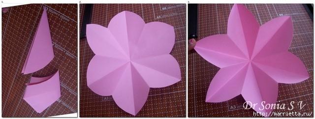 Цветы из бумаги для оформления торжества. Мастер-класс (13) (640x242, 118Kb)