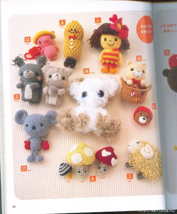 Амигурами крючком. Японский журнал со схемами игрушек (20) (579x700, 343Kb)