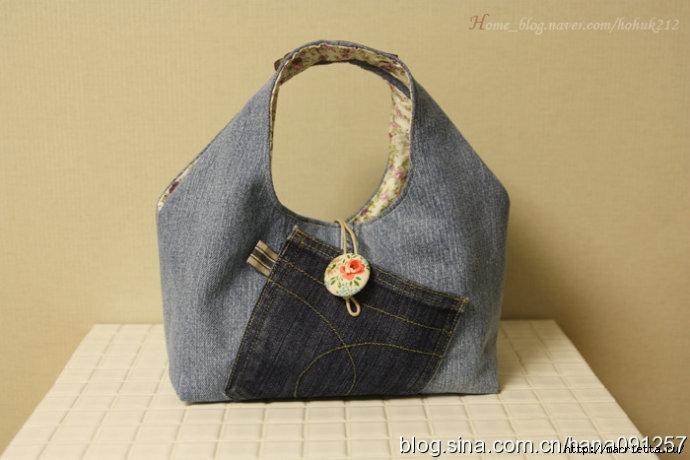 Как сшить сумку из старых джинсов. Фото мастер-класс (2) (690x460, 148Kb)