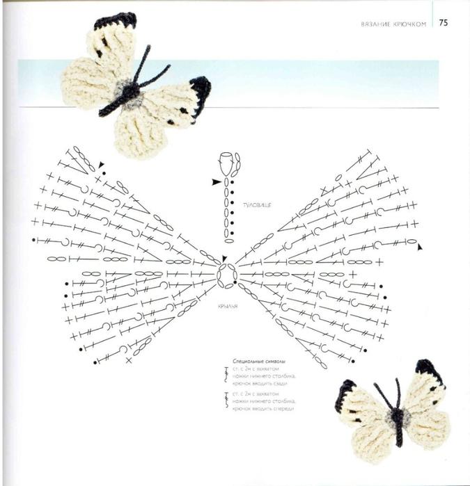 75 вязаных птиц, бабочек, жуков (76) (675x699, 194Kb)